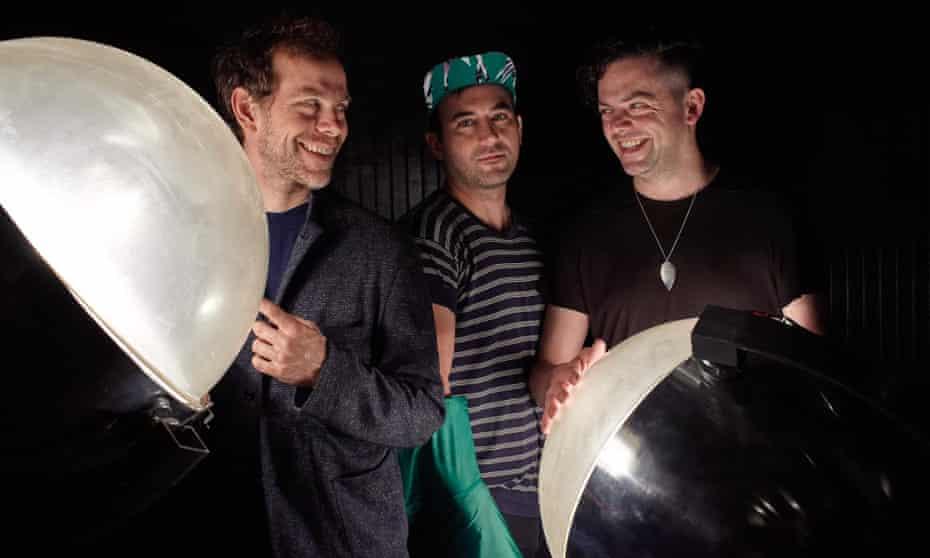 Lads on tour... Bryce Dessner, Sufjan Stevens and Nico Muhly.