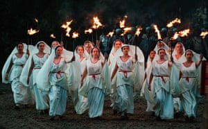 Bishop Auckland, England: Participants perform during a full dress rehearsal for Kynren