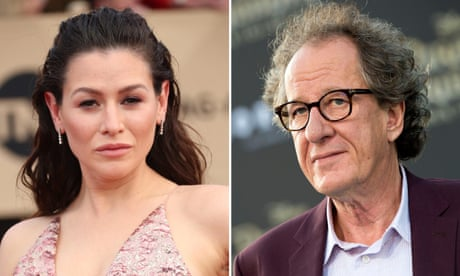 Yael Stone alleges Geoffrey Rush acted inappropriately towards her in dressing room, a claim he denies
