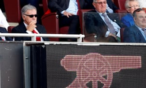 Arsenal owner Stan Kroenke looks on from the stands during their match against Burnley at the Emirates Stadium in May 2018.
