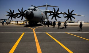 Airbus A400M military transport plane.