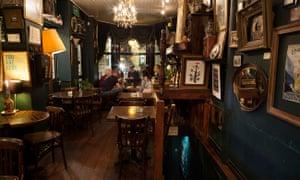 Interior of the pub the Black Dove in Brighton.
