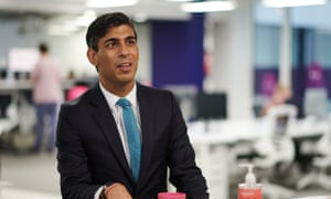 Rishi Sunak during a visit to the headquarters of Octopus Energy in London