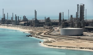 Saudi Aramco's Ras Tanura oil refinery and oil terminal in Saudi Arabia