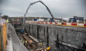 The concrete pouring get underway at Hinkley Point C