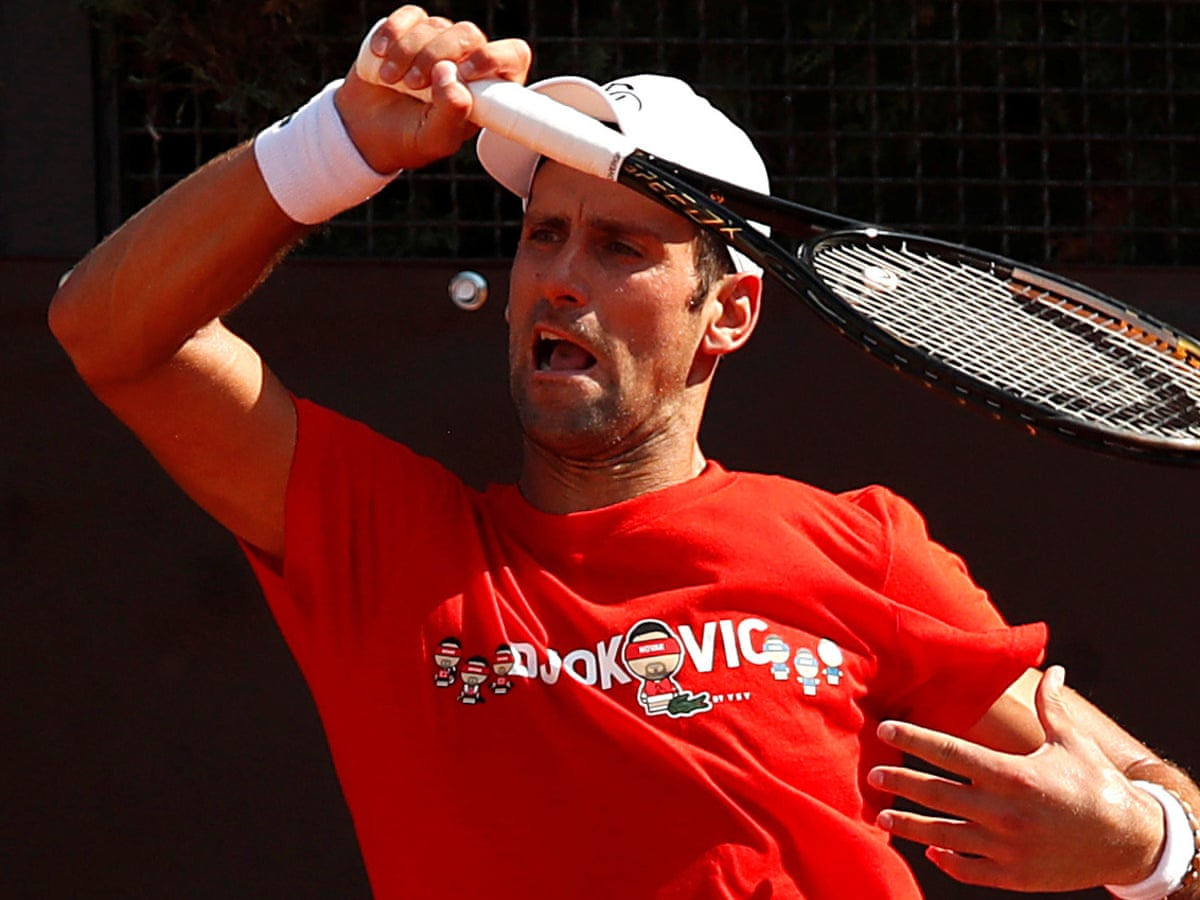 Novak Djokovic Contrite And Accepting Of Default From Us Open Novak Djokovic The Guardian