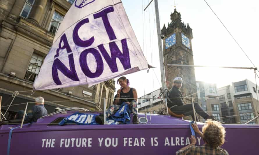 An Extinction Rebellion protest in Glasgow