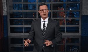 Stephen Colbert: 'Veselnitskaya met with Donald Trump Jr, Jared Kushner, and Paul Manafort or as I call them, the Three Collu-ges.'