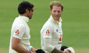 Ben Stokes talks to Jimmy Anderson