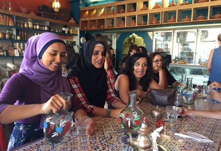 Women at Hana Assafiri's Muslim speed-dating event in Melbourne on Sunday.