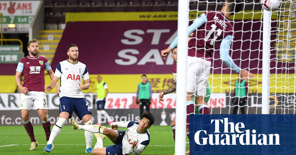 Son Heung-mins header gives Tottenham the points at Burnley