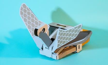 the cardboard swan from nintendo labo