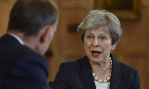 Theresa May speaks to Andrew Marr on Sunday morning.
