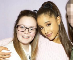 Georgina Callander with Ariana Grande, pictured on Instagram two years ago.