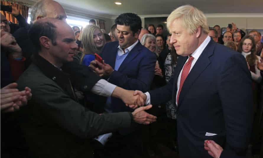 Boris Johnson in Sedgefield, County Durham, in December 2019