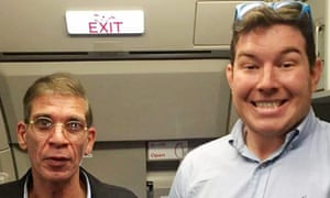 Ben Innes with hijacker Seif Eldin Mustafa.