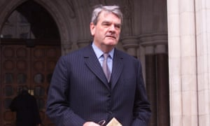 David Irving at the High Court, London, in 2000.