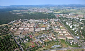 Benjamin Franklin Village, once the US Army's biggest barracks in Germany, hosts the majority of Mannheim's refugees.