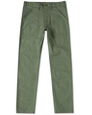 Khaki slim fit 4 pocket fatigue pant, £75, Stan Ray endclothing.com