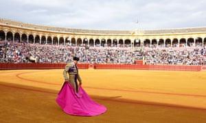 Matador Francisco Rivera performs during the April Fair at the Maestranza bullring in Seville this year.