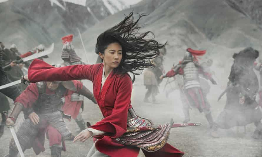 Liu Yifei in the title role of Mulan, the release of which has been postponed.