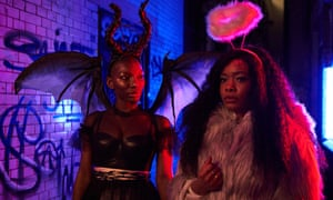 Michaela Coel and Weruche Opia in I May Destroy You, which was released weekly on BBC iPlayer.
