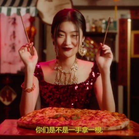 A still image from the Dolce & Gabbana video.