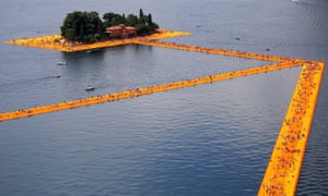 Landscapes transformed … Christo's pathways across Lake Iseo, Italy.