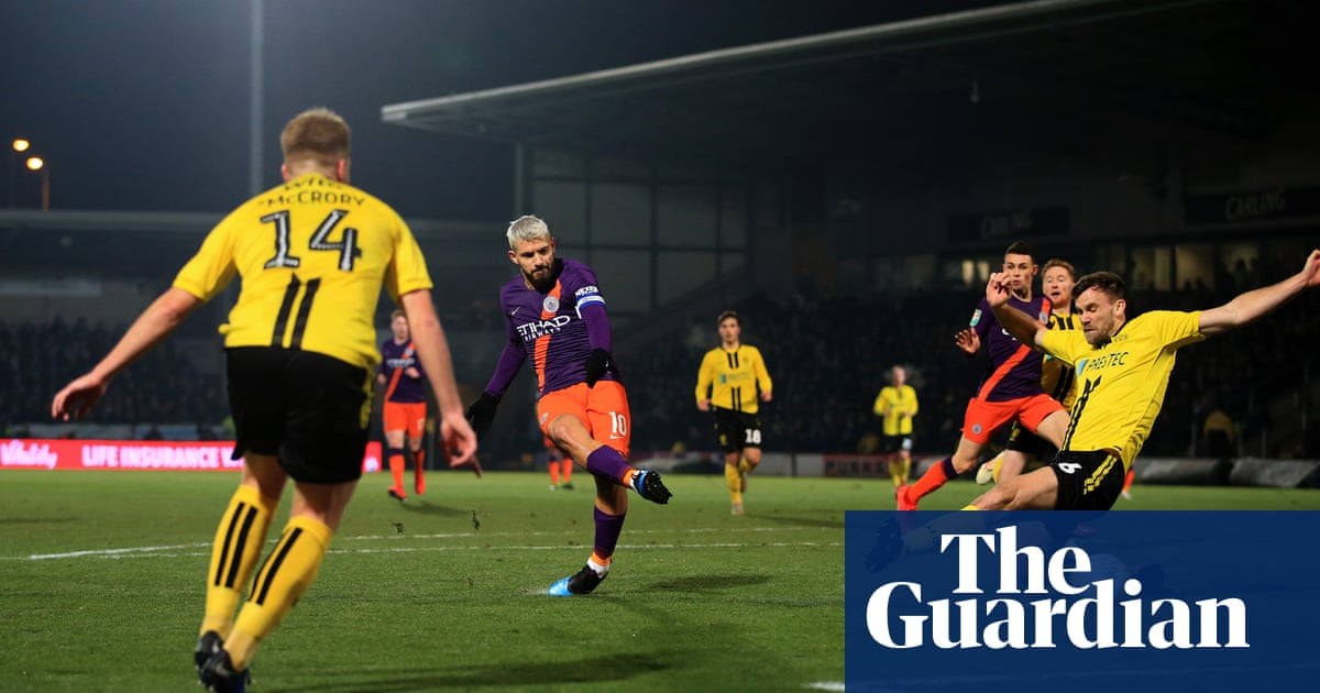 Sergio Agüero puts icing on cake for Manchester City against Burton