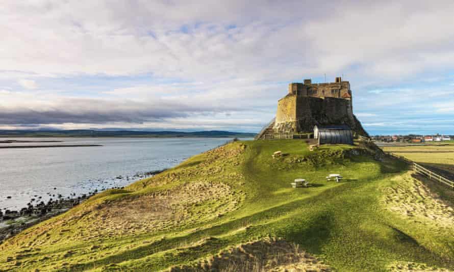 The 16th-century castle on Lindisfarne, Northumberland.