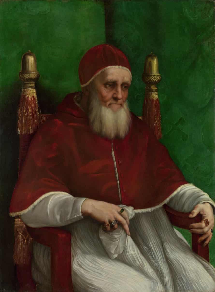 Portrait of Pope Julius II (1511) by Raphael.