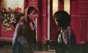 Zoe (Michelle Ryan) and Kat Slater (Jessie Wallace) have it out.