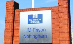 HMP Nottingham sign