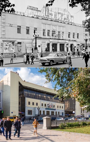 <strong>1965</strong><br><br>The Moscow circus on Tsvetnoi boulevard; and the Nikulin circus in the same place on 2015.