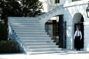 The South Portico porch stairs were also renovated, with limestone mined in Indiana