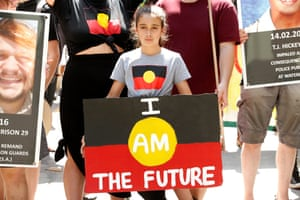 A young sign holder in Melbourne