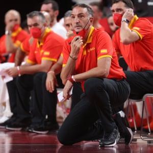 Spain's basketball head coach Sergio Scariolo