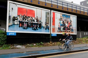 Two billboards from the Year 3 project.