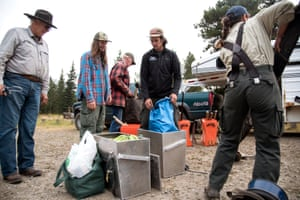 The trail crew was setting off on an eight-day backpacking trip to repair trails and bridges.