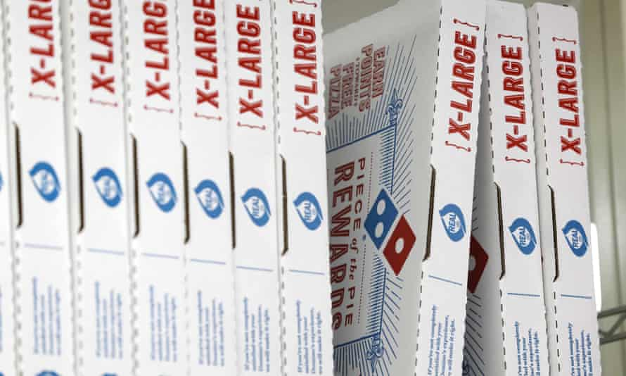 Domino's Pizza boxes