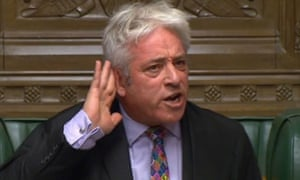 """Speaker John Bercow said a second debate on Johnson's Brexit bill would be """"repetitive and disorderly""""."""