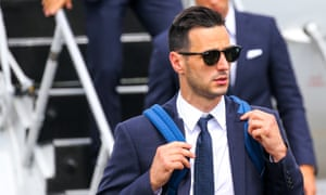 Nikola Kalinic arrives for a brief stay in Russia