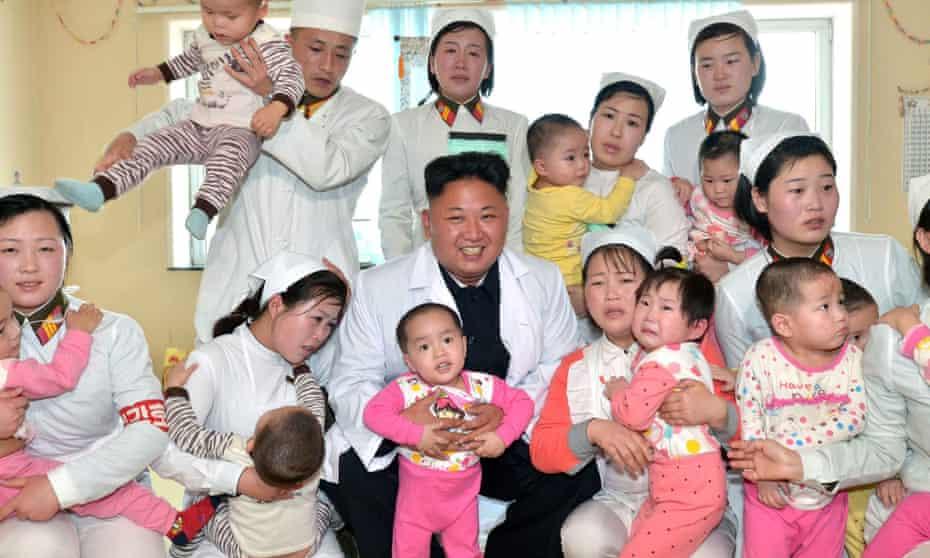 North Korea leader Kim Jong-un visits an orphanage in Pyongyang