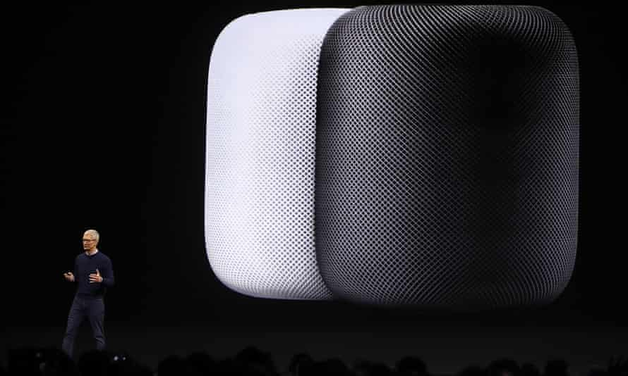 Apple CEO Tim Cook introduces the Homepod.