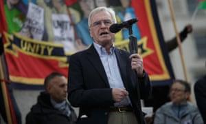 Shadow chancellor John McDonnell at Monday's May Day rally.