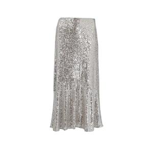 Sequinned skirt, £139, whistles.com