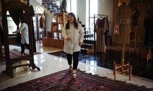 Rahiba Rahimi at the Laman showroom in Kabul