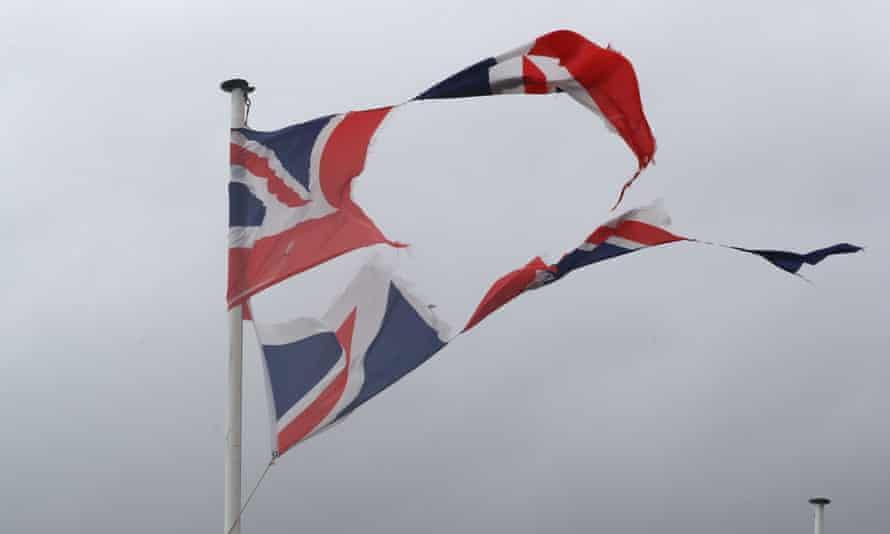 A torn union flag