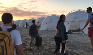 Guests at Fyre festival
