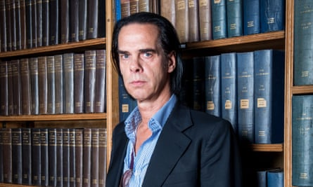 Nick Cave pictured at the Oxford Union, 1 May 2017.